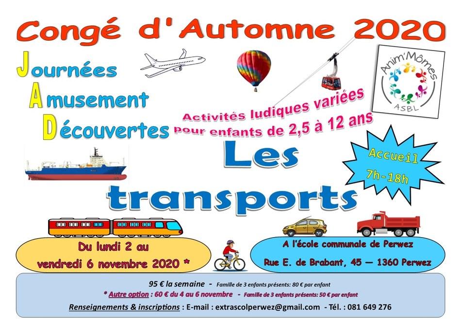 Affiche A3 JAD Automne 2020 new