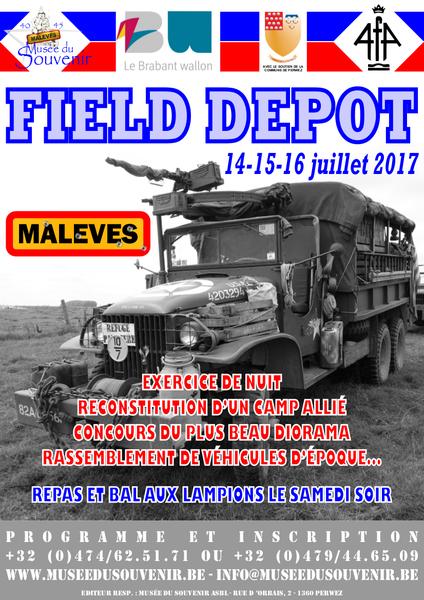 Affiche Field Depot 2017 A4 Color