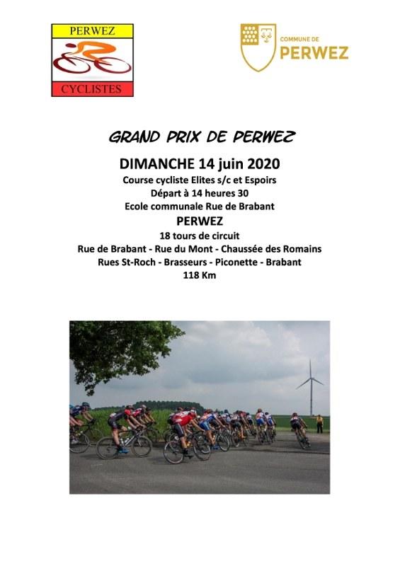 Affiche perwez cyclistes page 0