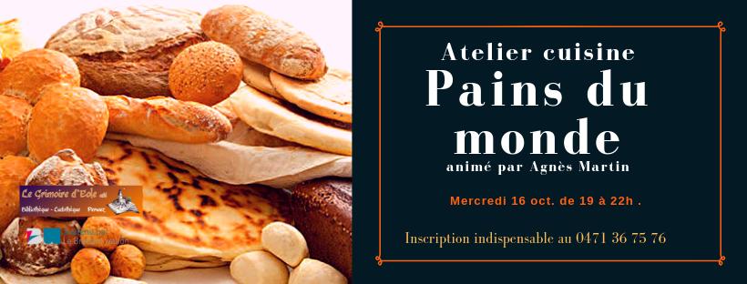 Atelier cuisine Pains du monde animé par Agnès Martin(1)