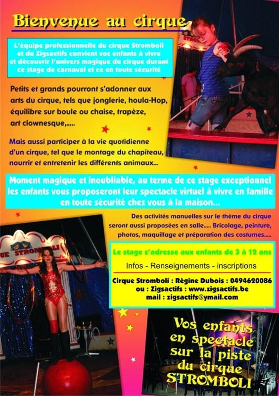 stage de cirque carnaval 2021 Perwez